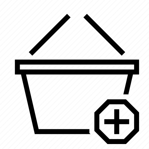 add, basket, create, new, plus, shopping icon