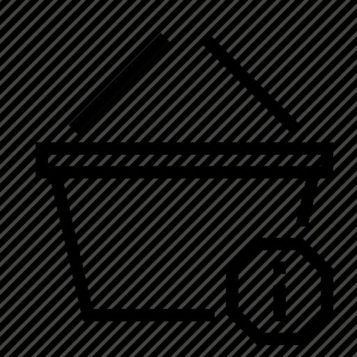 basket, detail, info, information, notification, shopping icon