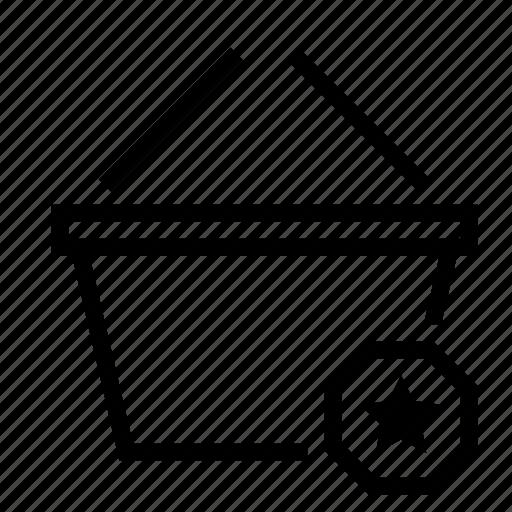 basket, bookmark, favorite, shopping, star icon