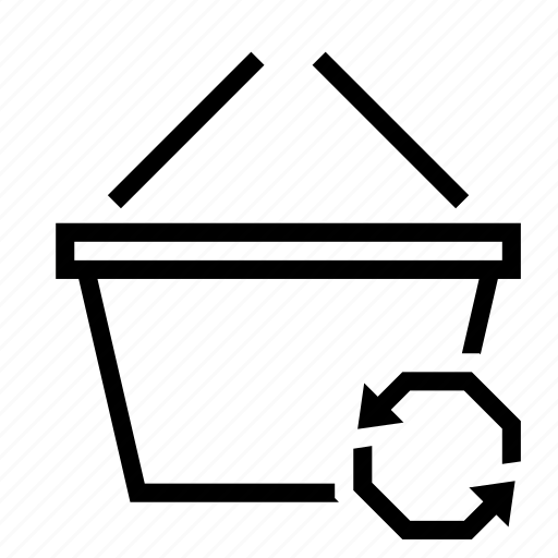 arrow, basket, buy, shopping, sync icon