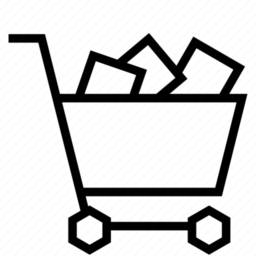 cart, full, goods, product, shopping, strolley icon