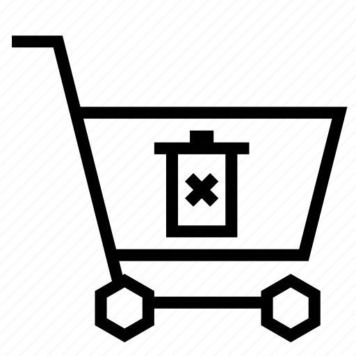 cart, delete, recycle, remove, shopping, strolley, trash icon