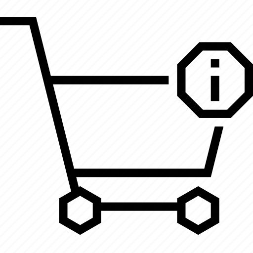 cart, detail, info, information, more, shopping, strolley icon