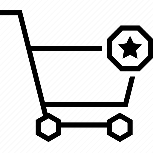 bookmark, cart, favorite, heart, shopping, star, strolley icon