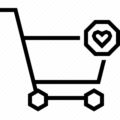 bookmark, cart, favorite, heart, love, shopping, strolley icon