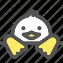 bird, cute, doll, duck, toy, zoo icon