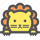 cute, doll, lion, toy, wild, zoo icon