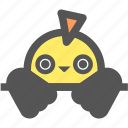 bird, cute, doll, forest, nature, toy icon