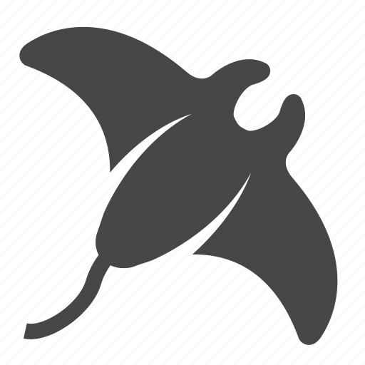 animals, sea, stingray icon
