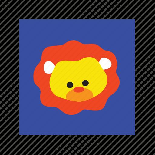 animal, cute, funny, lion icon