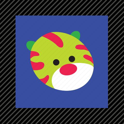 animal, cute, funny, tiger icon