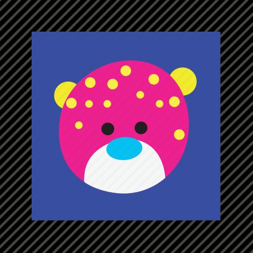 animal, cute, funny, leopard icon