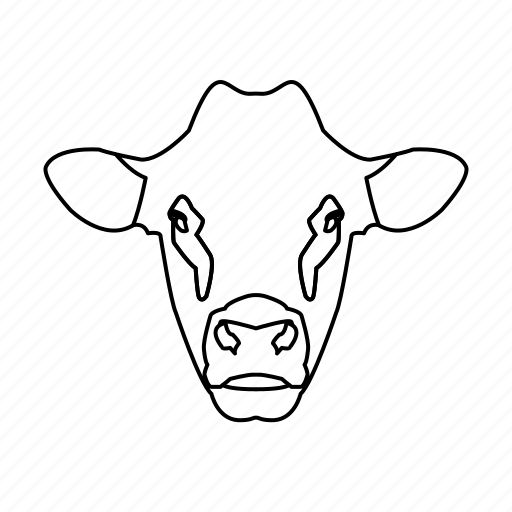 animal, animal icon, cow, cow face, farm, pet icon
