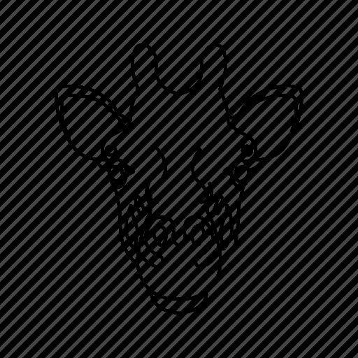 animal, animal icon, giraffe, giraffe face, pet, zoo icon