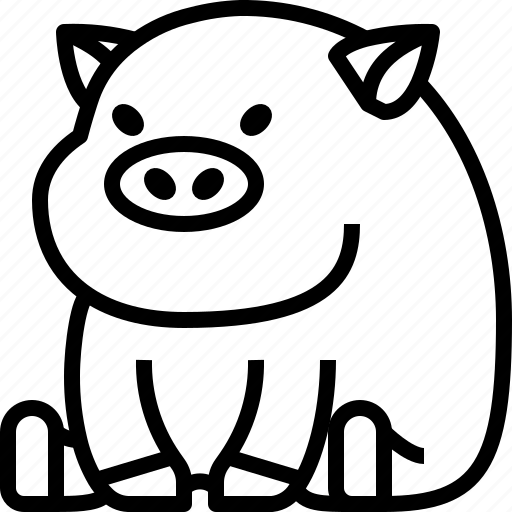 animals, avatar, farm, life, pig, pork, wild icon