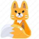 animal, canine, fox, kingdom, life, vixen, wild icon