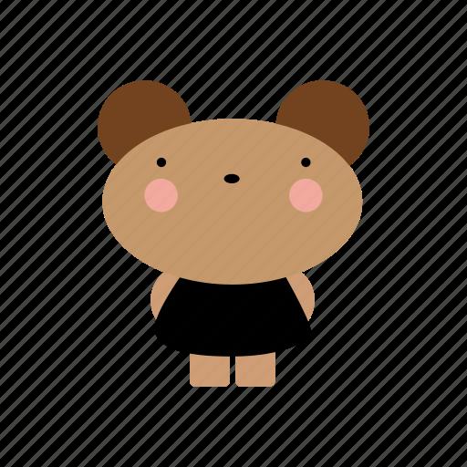 animal, animals, bear, cute, cutebaby, girl, pretty icon