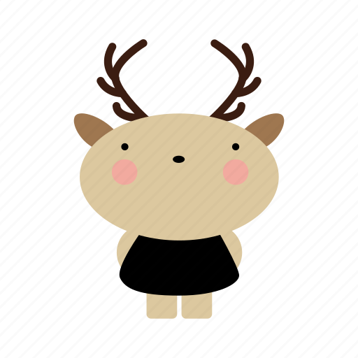 animal, animals, cute, cutebaby, deer, girl, pretty icon