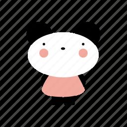animal, animals, cute, cutebaby, girl, panda, pretty icon