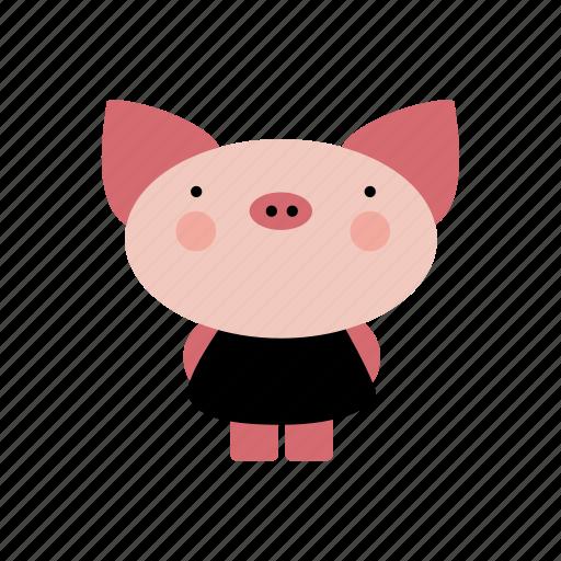 animal, animals, cute, cutebaby, girl, pig, pretty icon