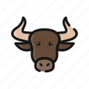 agriculture, animal, buffalo, bull, farm, mammals, ox icon