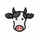 animal, cow, farm, livestock, mammals, meat, milk icon