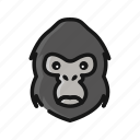 animal, chimpanze, gorilla, harambe, mammals, monkey icon
