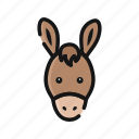 agriculture, animal, donkey, farm, horse, mammals icon