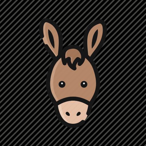 agriculture, animal, donkey, farm, horse, mammals icon