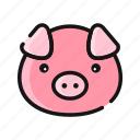 agriculture, animal, farm, livestock, mammals, pig icon
