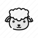 animal, farm, goat, livestock, mammals, sheep icon