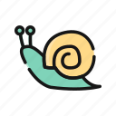 animal, slow, small, snail, turbo icon