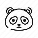 animal, china, mammals, panda, zoo icon