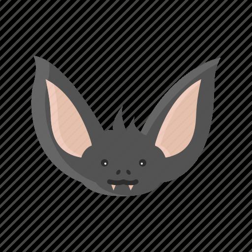 animal, bat, face, mammals, night, vampire icon
