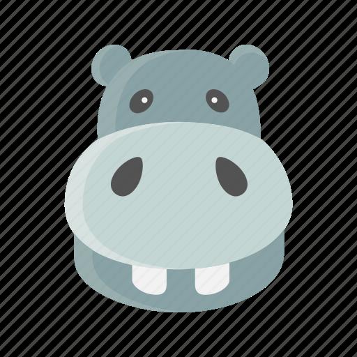 animal, big, hippo, hippopotamus, mammals, water icon