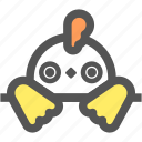 chicken, cock, cute, doll, farm, hen, rooster icon