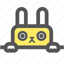 bunny, cute, doll, rabbit, toy icon