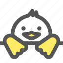 bird, cute, doll, duck, toy, zoo icon