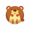 animal, bear, brown bear, grizzly, mammal icon