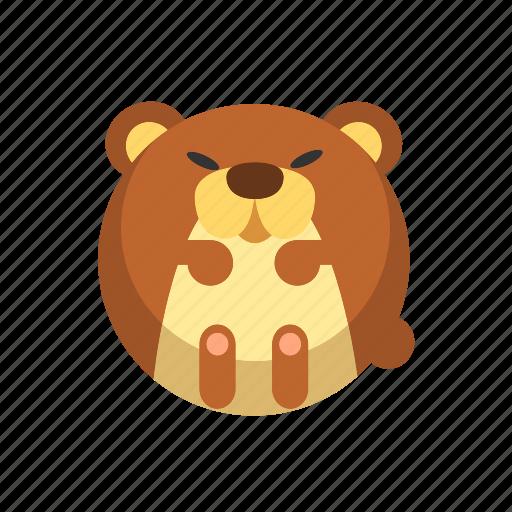 animal, bear, brown bear, grizzly, mammal icon