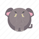 animal, elephant, mammal, mammoth, wild icon