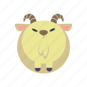 animal, goat, horn, milk, wild icon