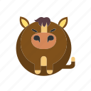 animal, farm, horse, mammal, riding icon