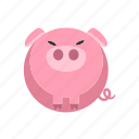 animal, farm, fat, pig, pork icon