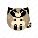 animal, mammal, raccoon, weasel, wild icon