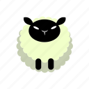animal, farm, lamp, sheep, wool icon
