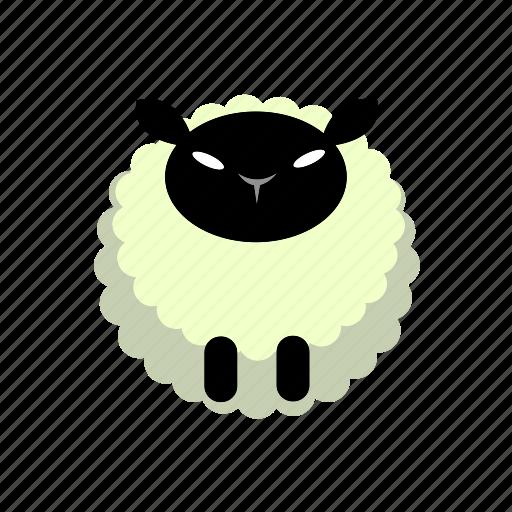 animal, farm, lamp, sheep, wool icon