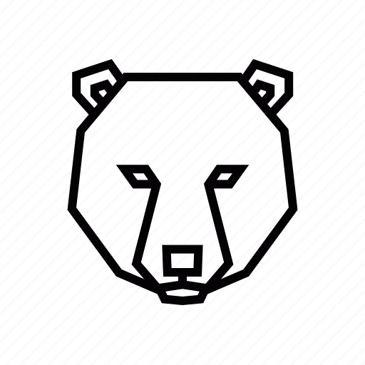 animal, bear, head icon