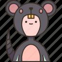rat, mouse, masquerade, carnival, clothes
