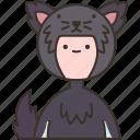 wolf, furry, animal, halloween, costume